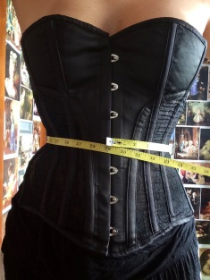 """Corseted to 29"""" (approx 3"""" reduction)"""